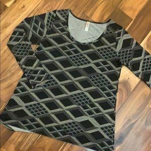 Geometric Print Long Sleeve Swing T